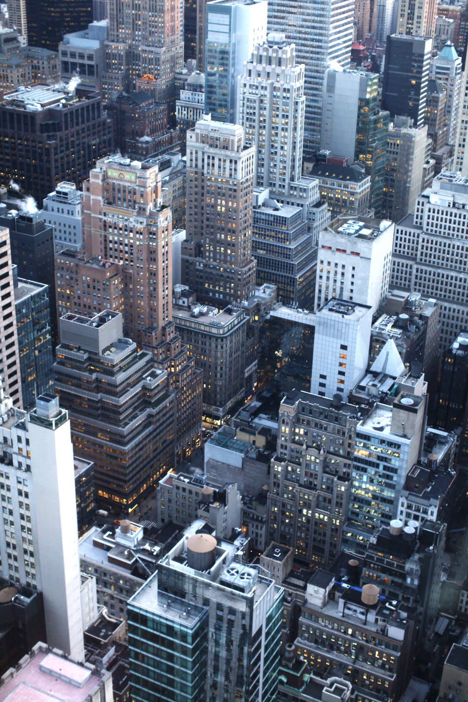 NYC from the top of the rockefeller center | nyc