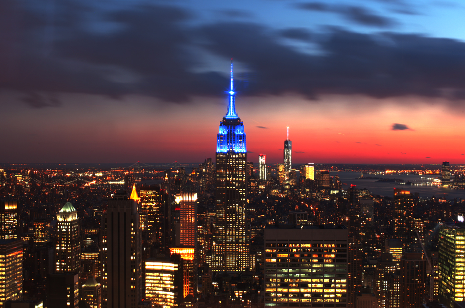 Top of the Rock | empire state at night | NYC | greaseandglamour