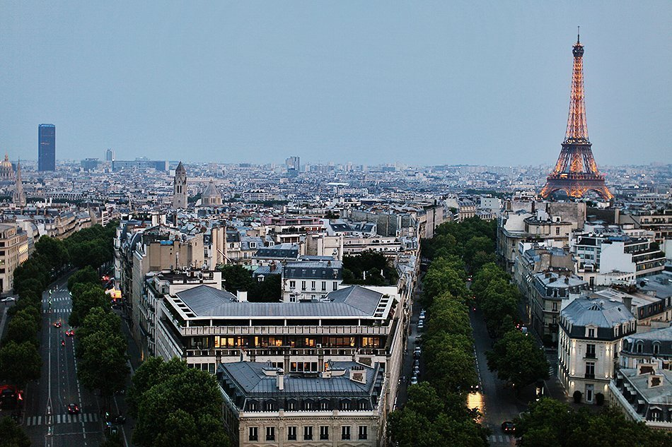 paris from top of champs elysees