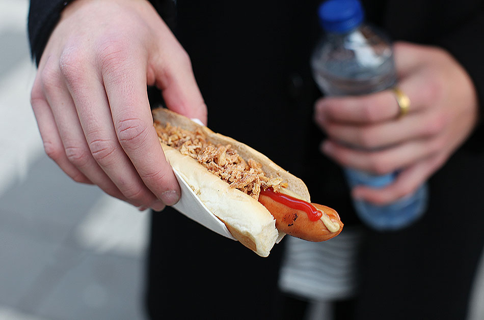 Swedish Street Hot Dog | What to Eat in Stockholm