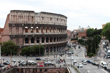 Colosseum view from Rome Hotel