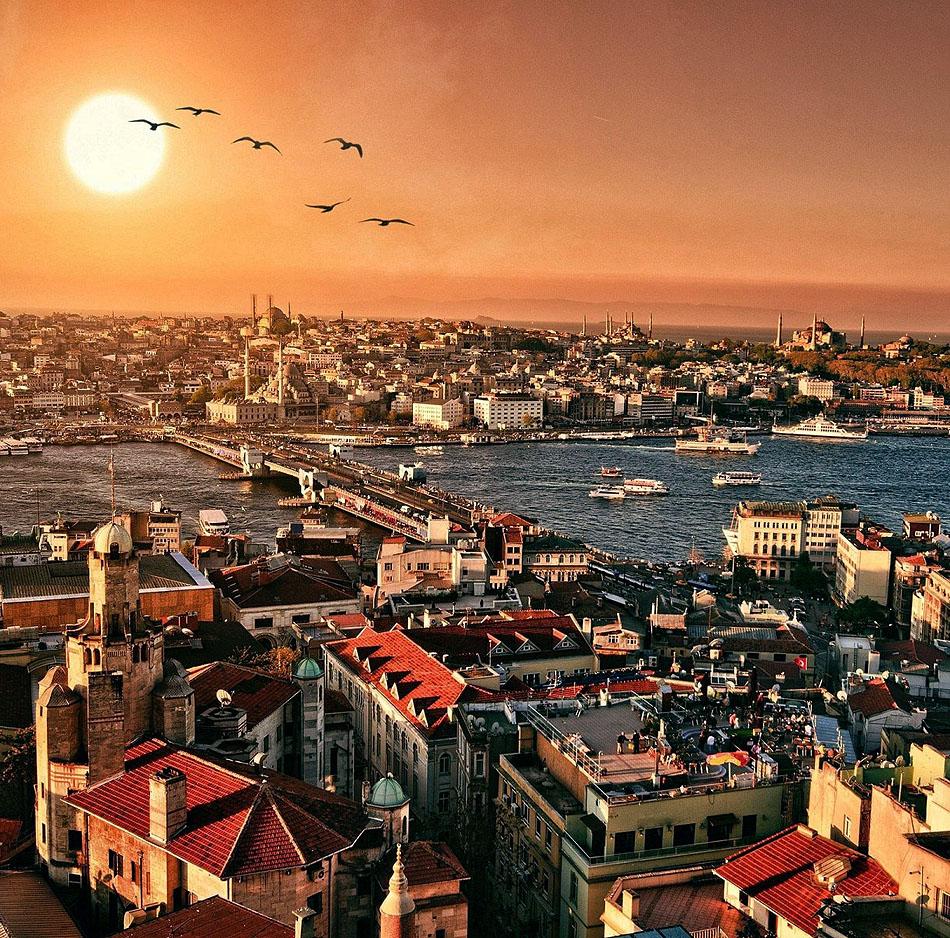Istanbul, Turkey at Sunset