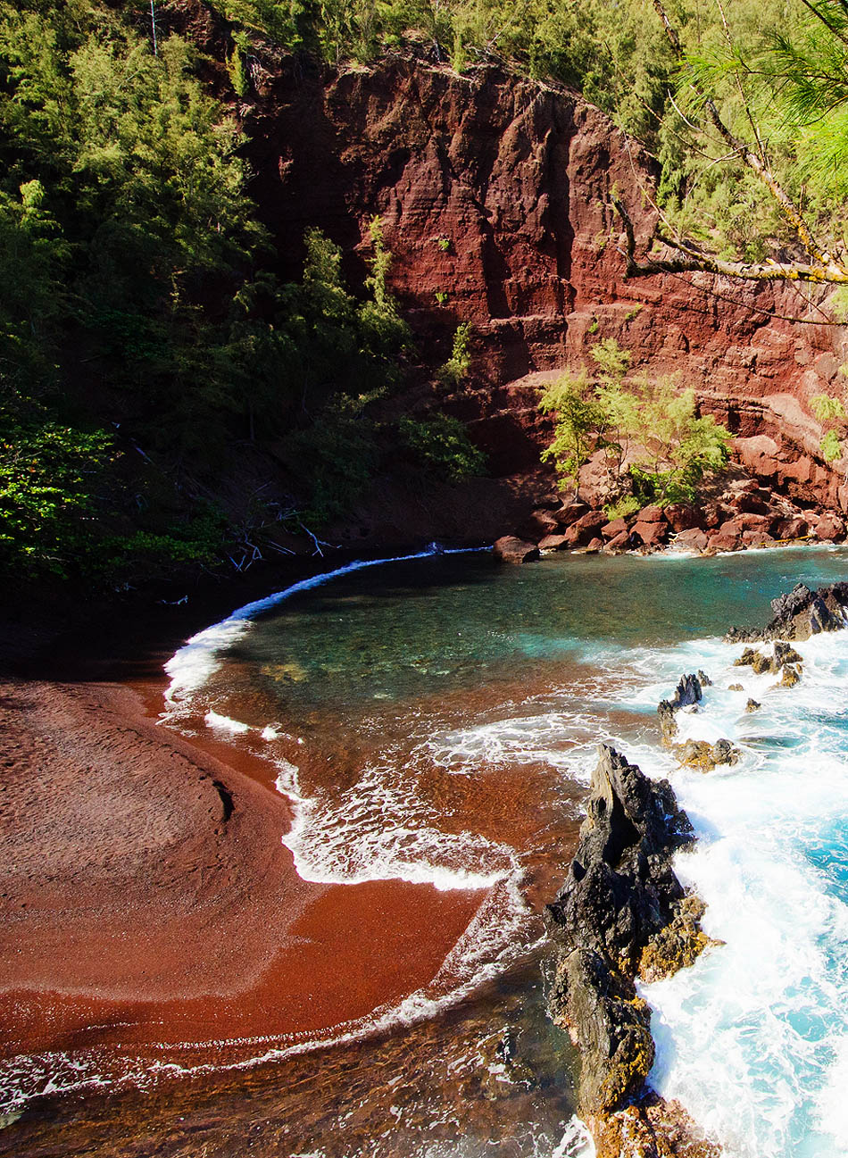 The Most Exotic Beaches In The World | Red Sand Beach | Hana, Hawaii | Travel