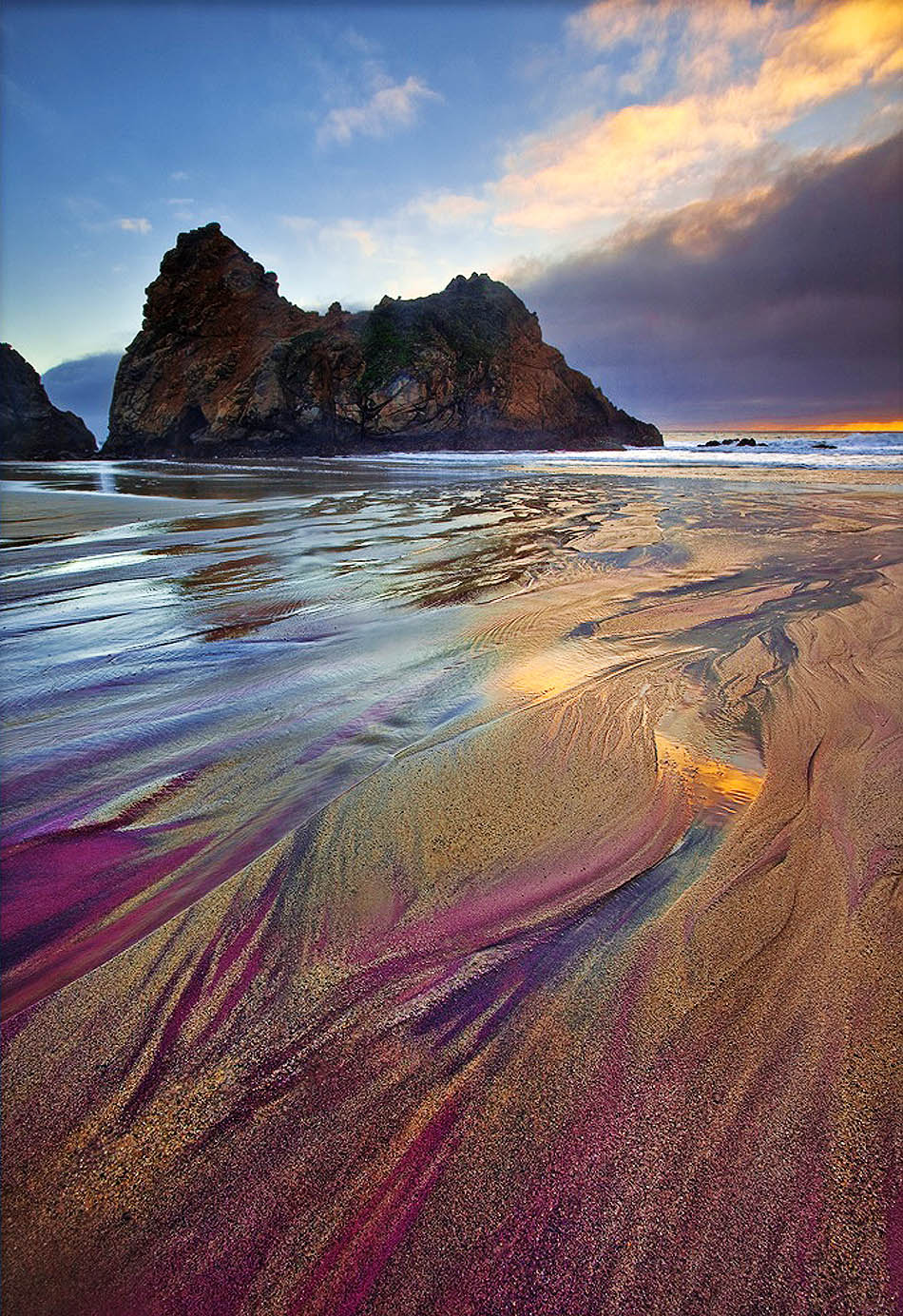 Colorful Beaches In California