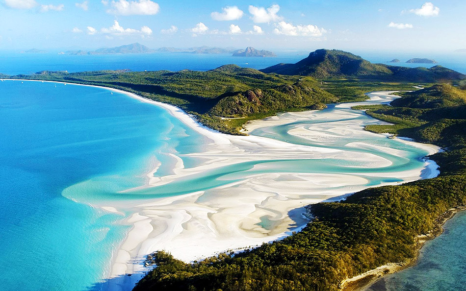 The Most Exotic Beaches In The World | Whitehaven Beach | Whitsunday Island, Australia | Travel