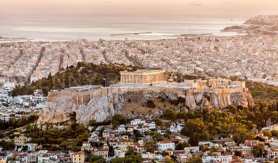 Athens Acropolis at Sunset Greece