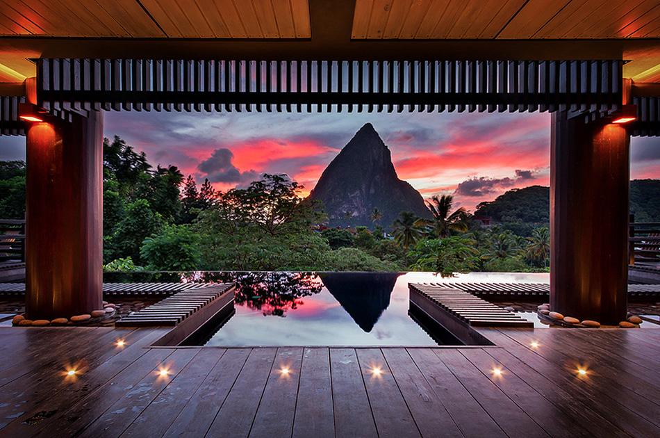 Hotel Chocolat St. Lucia Infinity Pool Sunset