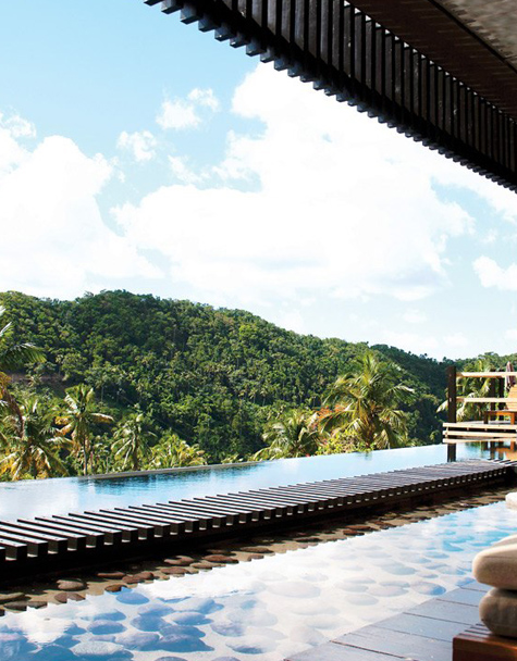 Hotel Chocolat St. Lucia Infinity Pool View
