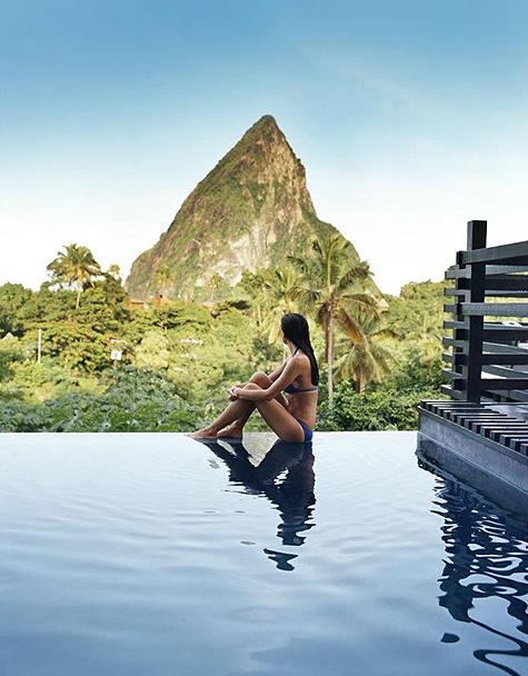 Hotel Chocolat St. Lucia Infinity Pool
