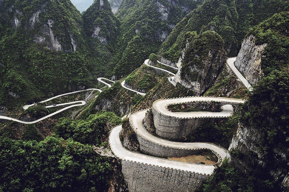 Tianmen Mountain Road, China | Most Dangerous Roads In The World