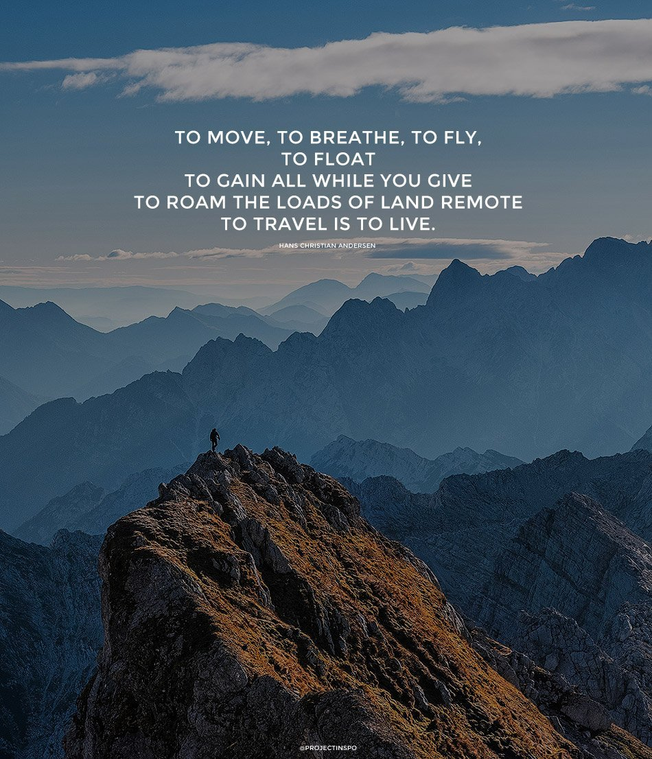 Ordinaire FLOAT MOVE TRAVEL INSPIRATION QUOTE