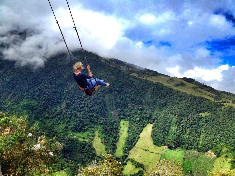 Swing at the end of the world | Banos, Ecuador | @projectinspo