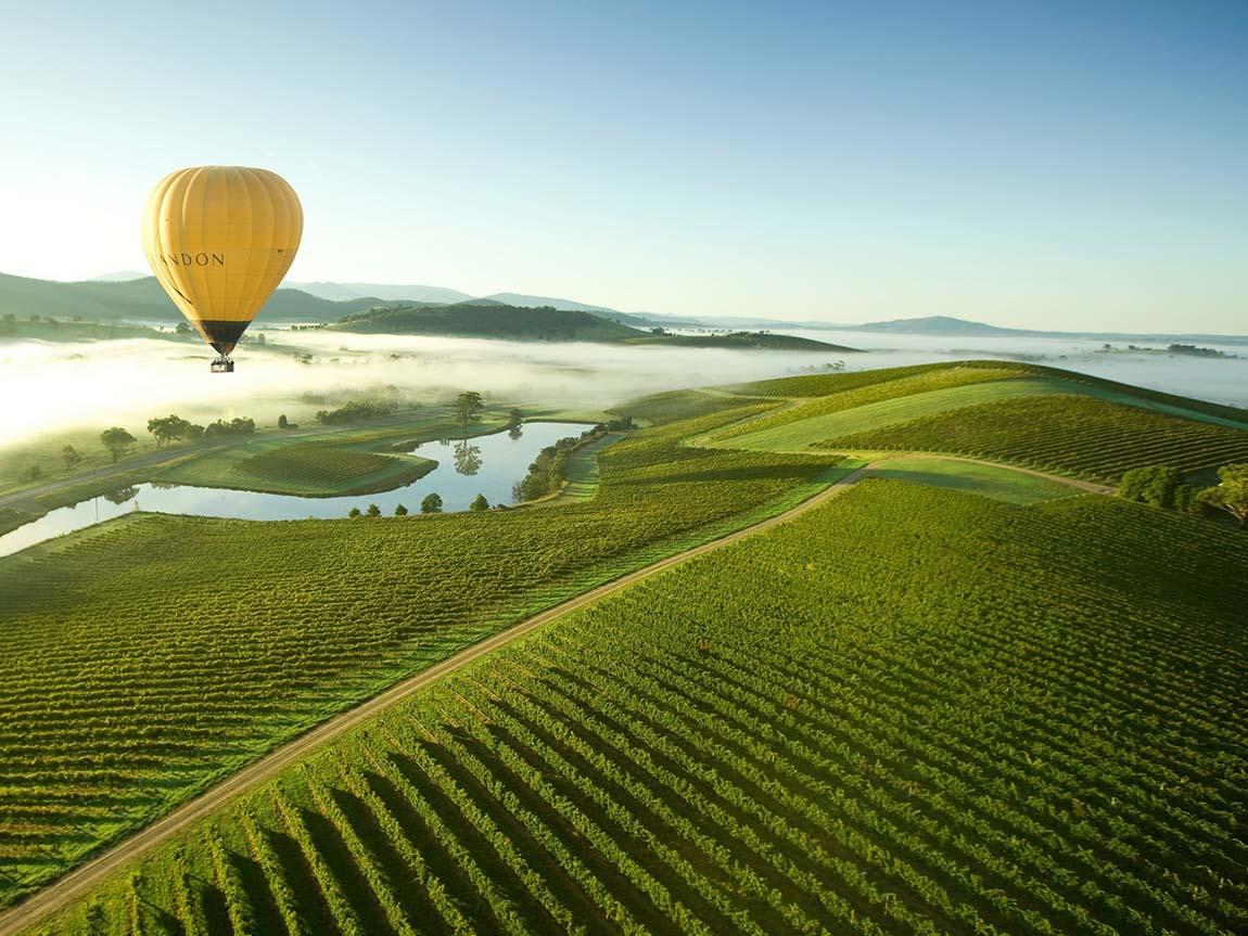 Yarra Valley, Australia | hot air balloon ride | travel | @projectinspo
