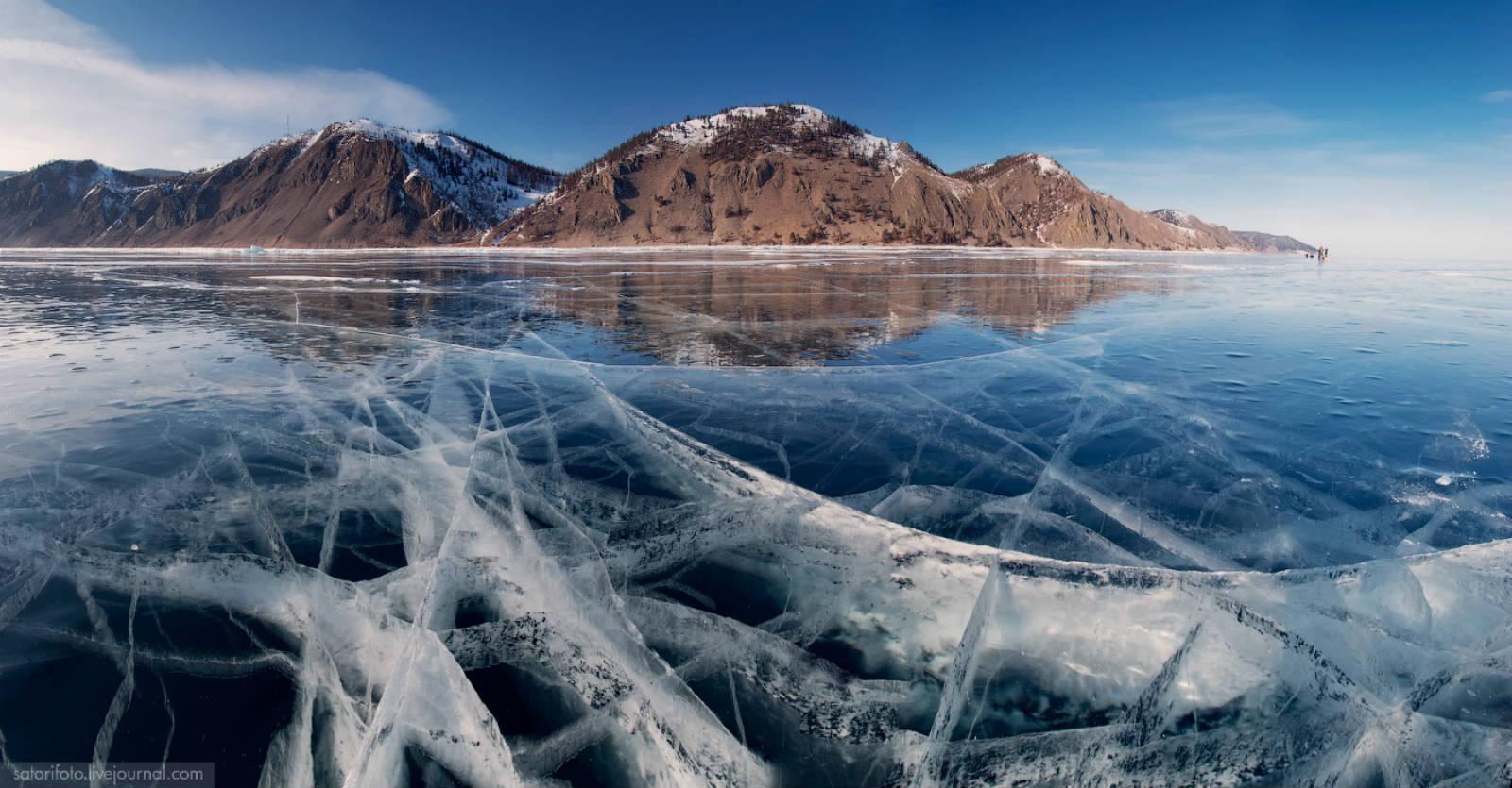 turquoise ice, lake baikal