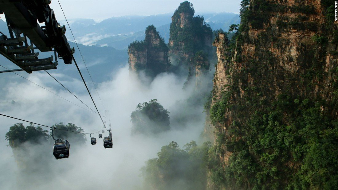 Tianmen Mountain Cable Car | @projectinspo