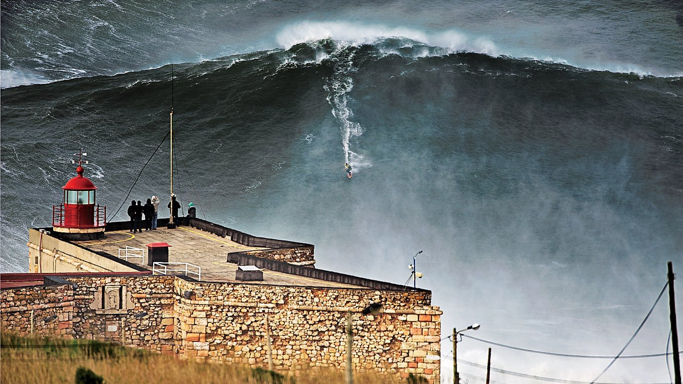 Big Wave Surfing, Nazare, Portugal | @projectinspo