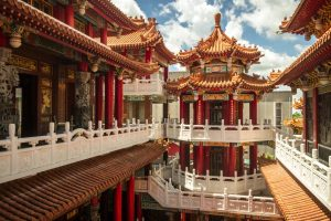 Exploring the upper levels of Shanxi temple in Guanmiao